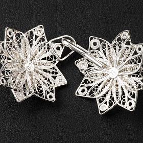 Gancio per piviale stella filigrana argento 800 s5