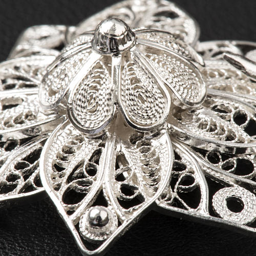 Cope Clasp in silver 800 filigree, star shaped 6