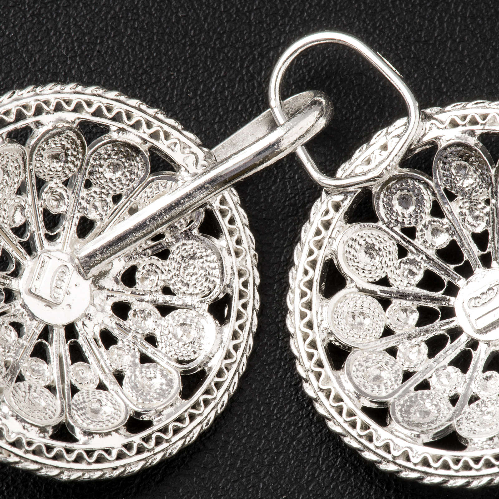 Cope Clasp in silver 800 filigree, round shaped 4