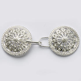 Cope Clasp in silver 800 filigree, round shaped s1