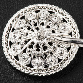 Cope Clasp in silver 800 filigree, round shaped s2