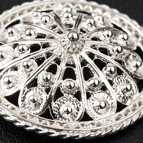 Cope Clasp in silver 800 filigree, round shaped s4