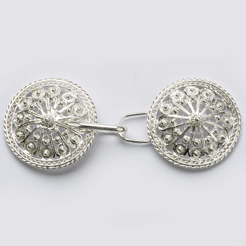 Cope Clasp in silver 800 filigree, round shaped 1