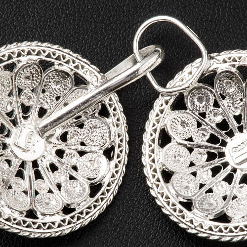 Cope Clasp in silver 800 filigree, round shaped 5