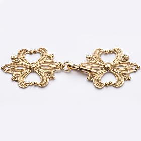 Copes, Roman Chasubles and Dalmatics: Cope Clasp in golden silver 800 filigree