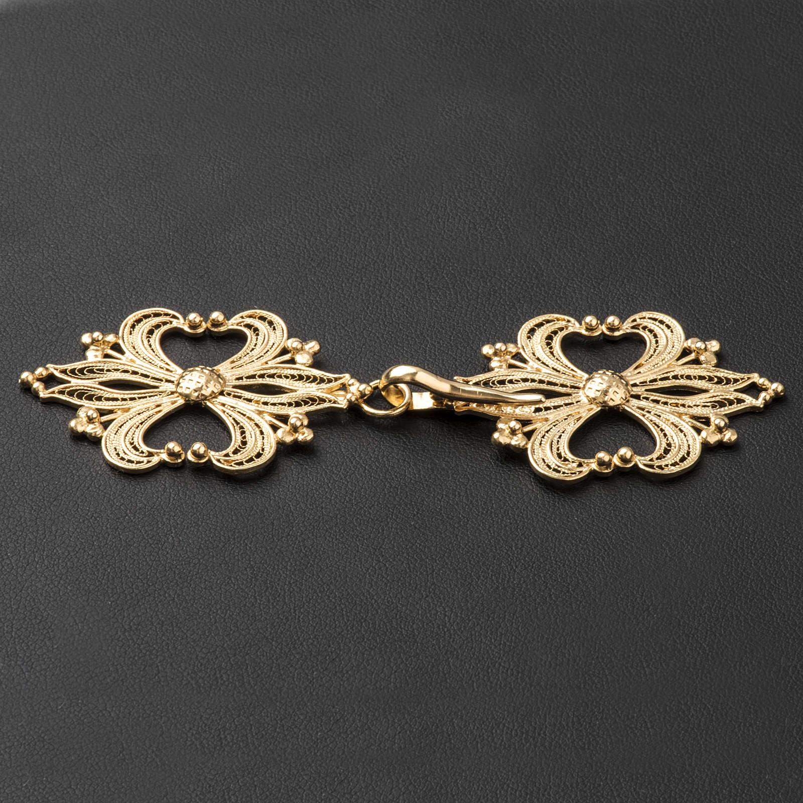 Broche plata 800 dorado en filigrana para el pluvial 4