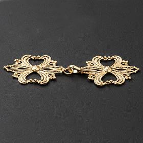 Broche plata 800 dorado en filigrana para el pluvial s3