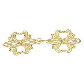 Broche plata 800 dorado en filigrana para el pluvial s1