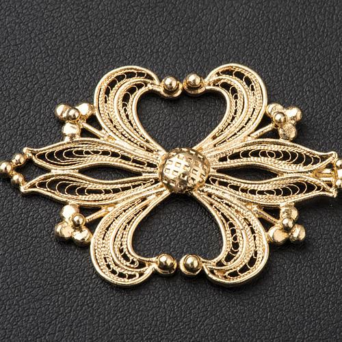 Broche plata 800 dorado en filigrana para el pluvial 2