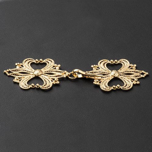 Broche plata 800 dorado en filigrana para el pluvial 3