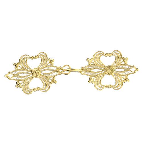 Broche plata 800 dorado en filigrana para el pluvial 1