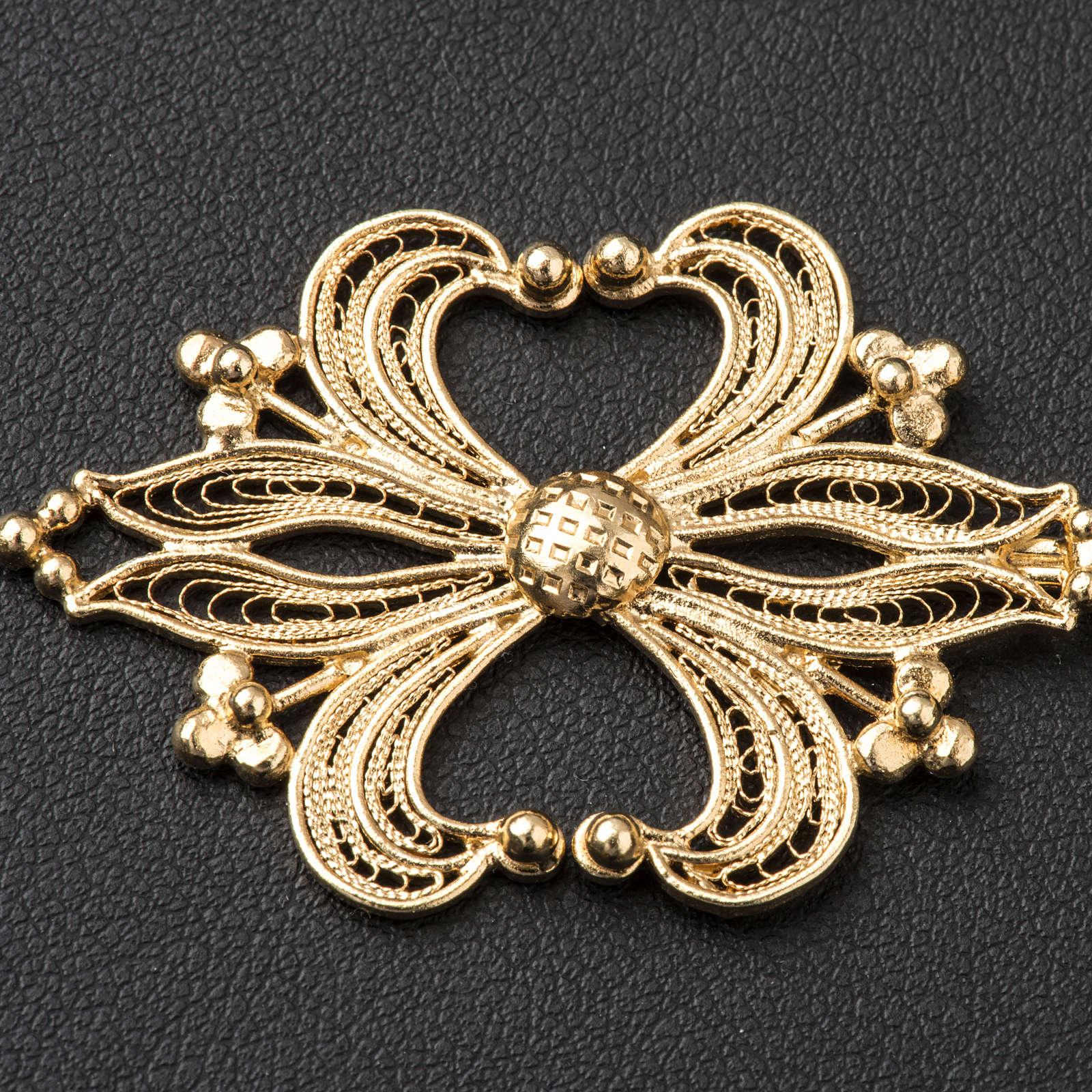 Cope Clasp in golden silver 800 filigree 4