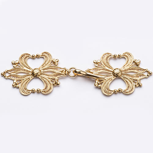 Cope Clasp in golden silver 800 filigree 1