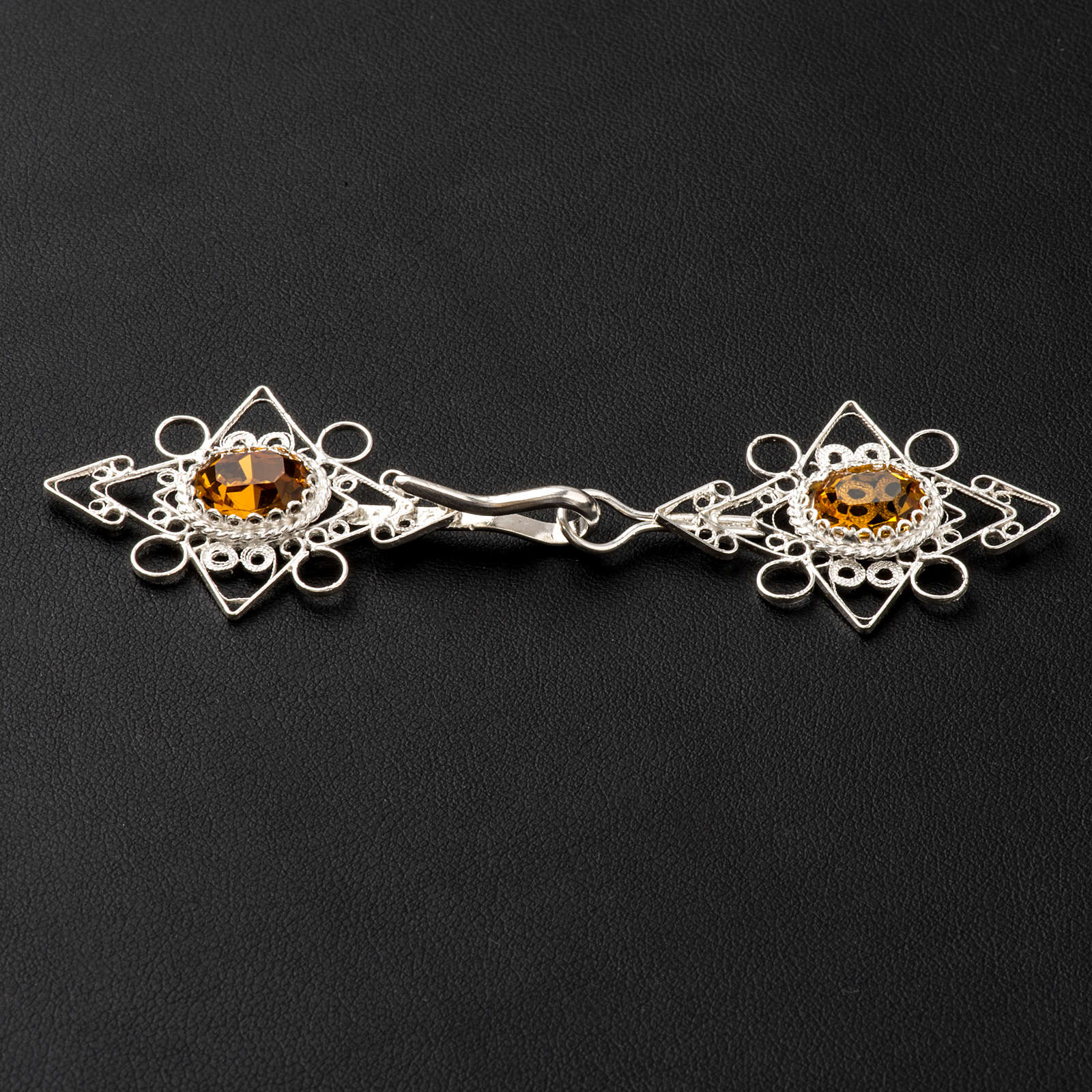 Cope Clasp, silver 800 with Carnelian 4