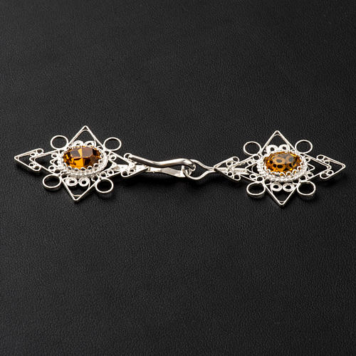 Cope Clasp, silver 800 with Carnelian 3