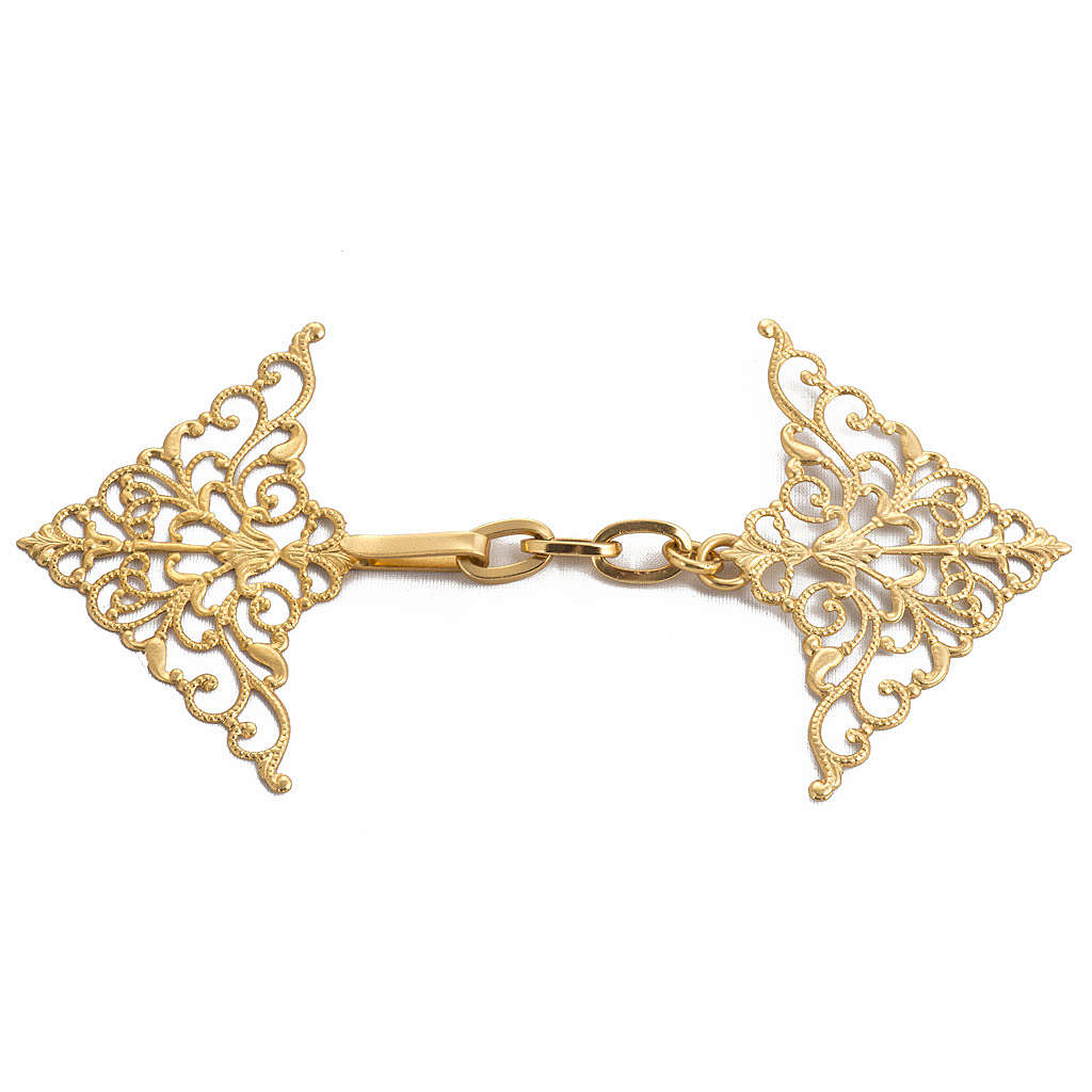 Cope clasp, gilded brass, bolt  4