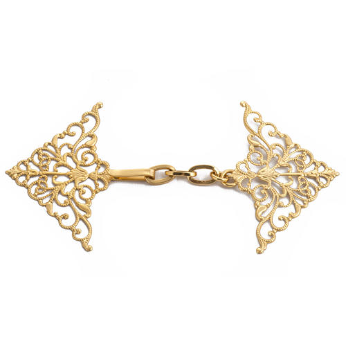 Cope clasp, gilded brass, bolt  1