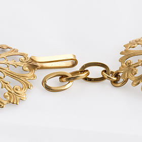Cope clasp, round in gold-plated brass s3