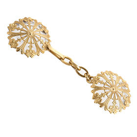 Cope clasp, round in gold-plated brass s1