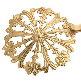 Cope clasp, round in gold-plated brass s2