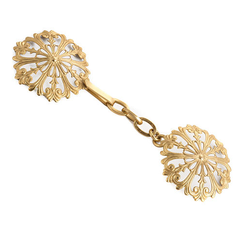 Cope clasp, round in gold-plated brass 1