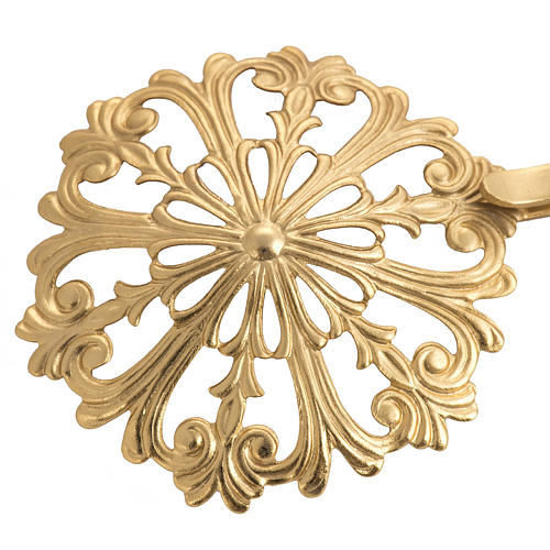 Cope clasp, round in gold-plated brass 2