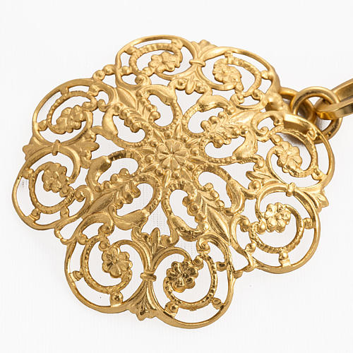 Cope clasp, gold-plated brass, round 2