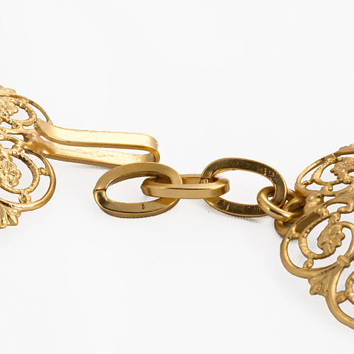 Cope clasp, gold-plated brass, round 3