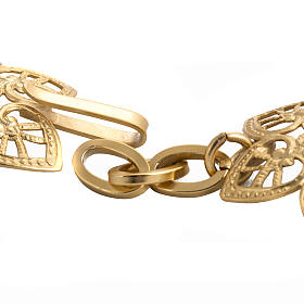 Cope clasp, gold-plated brass, hearts s3