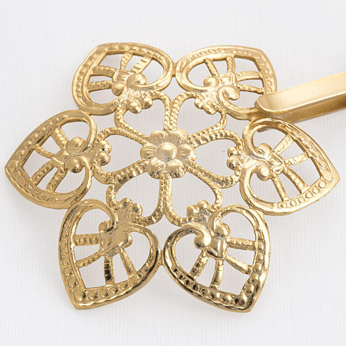 Cope clasp, gold-plated brass, hearts 2