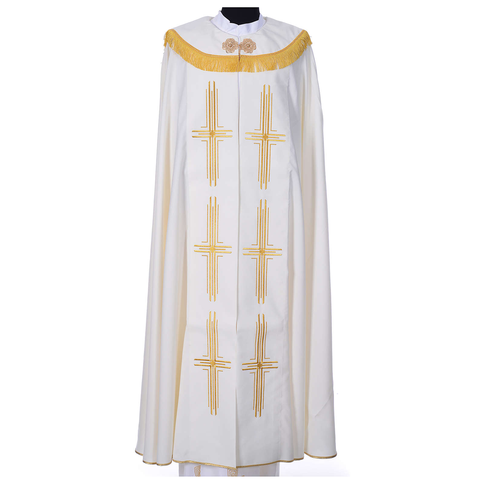 Cope in polyester with 6 crosses embroidery 4