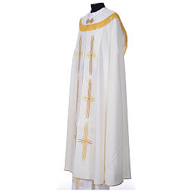 Cope in polyester with 6 crosses embroidery s5