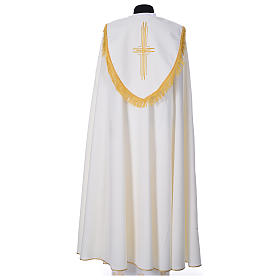 Cope in polyester with 6 crosses embroidery s7