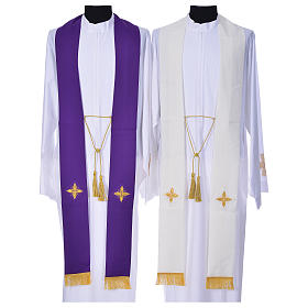 Cope in polyester with 6 crosses embroidery s11