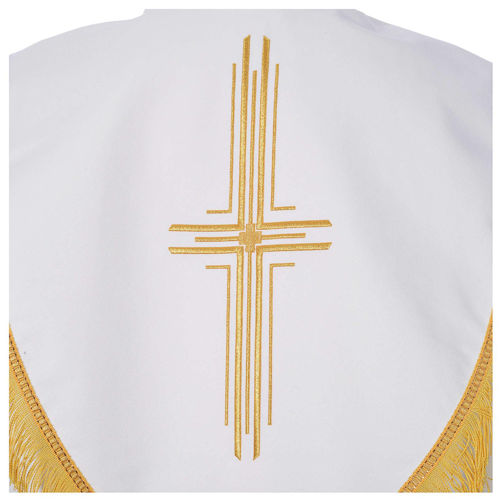 Pluvial en poliéster con cruces estilizadas 4