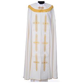 Chape en polyester avec 6 croix stylisées s3