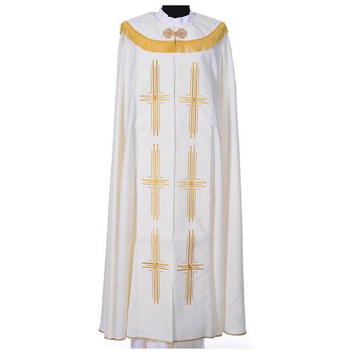 Chape en polyester avec 6 croix stylisées 3