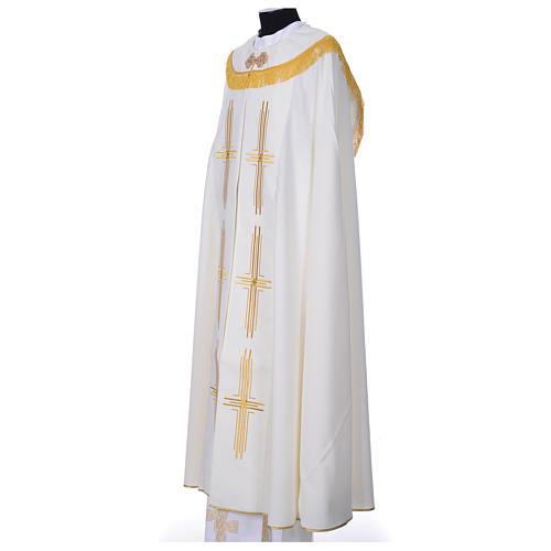Chape en polyester avec 6 croix stylisées 5
