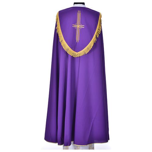 Chape en polyester avec 6 croix stylisées 6