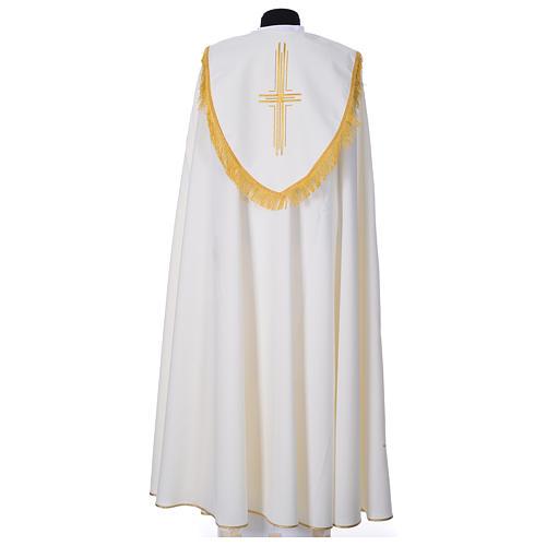 Chape en polyester avec 6 croix stylisées 7