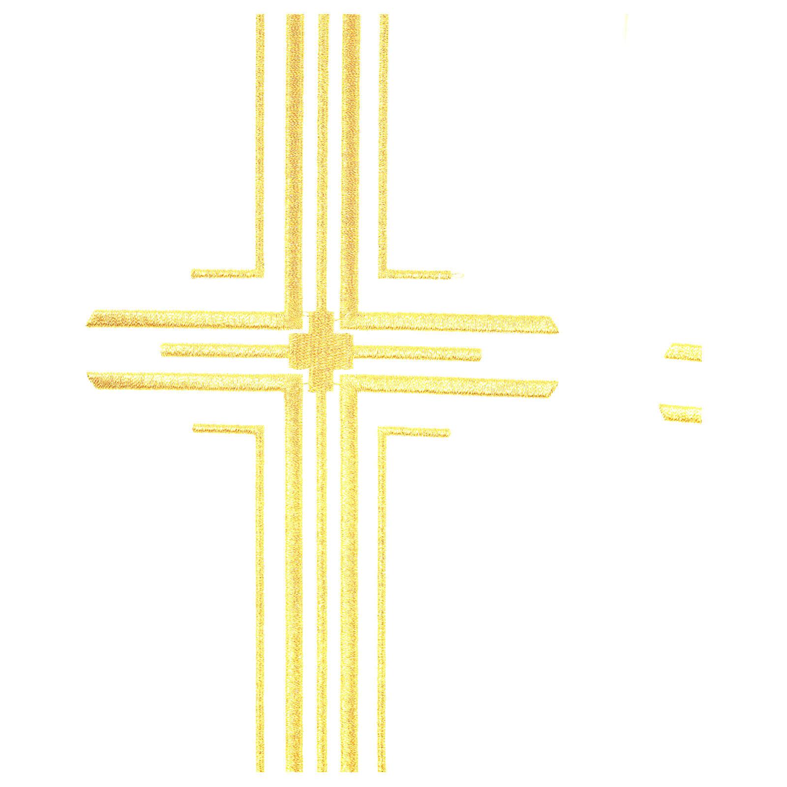 Piviale in poliestere con 6 croci stilizzate 4