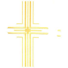 Pluvial em poliéster com 6 cruzes estilizadas s9