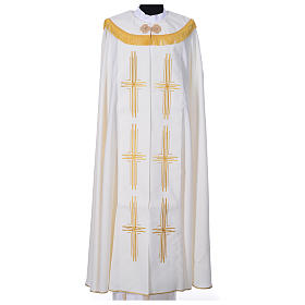 Cope in polyester with 6 crosses embroidery s3