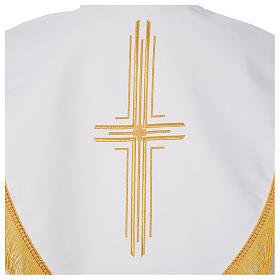 Cope in polyester with 6 crosses embroidery s8