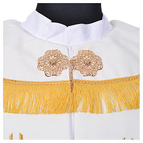 Cope in polyester with 6 crosses embroidery s10