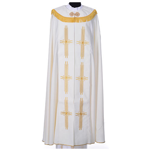 Cope in polyester with 6 crosses embroidery 3