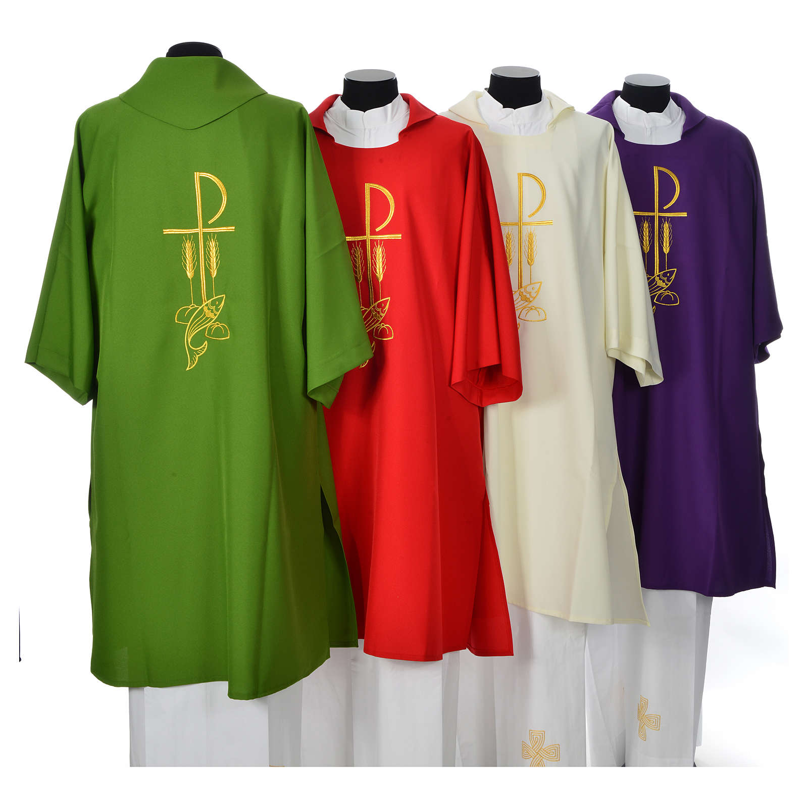 Dalmatic with embroidered loaves and fishes 100% polyester 4