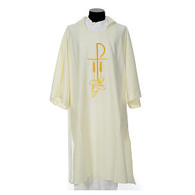 Dalmatic with embroidered loaves and fishes 100% polyester s5