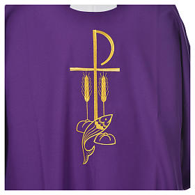 Dalmatic with embroidered loaves and fishes 100% polyester s9