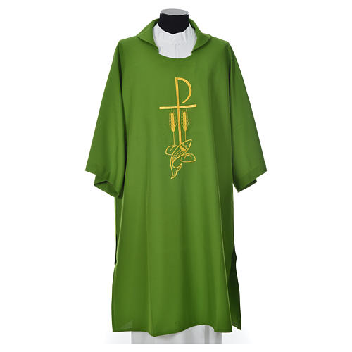 Dalmatic with embroidered loaves and fishes 100% polyester 3